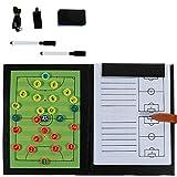 Rovtop 6 En 1 Carpeta Táctica para Entrenamiento de Fútbol con accesorios-2 Lápices, 8 Mapas...