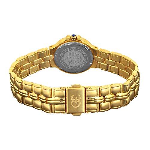 Oskar Emil, klassische Uhren, Classic Oskar Emil Damenuhr gold Casablance mit Mopp, Zifferblatt women'Armbanduhr Analog Quarz Edelstahl gold vergoldet Armband Casablanca 303L - 2