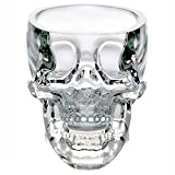 Fjiujin,73 Ml Crystal Skull Head Shot Coppa di vetro Vodka Whisky Gin Bar Home Party(color:BIANCA)