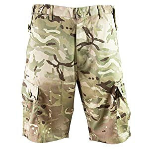 51AHI8ilVTL. SS300  - Highlander Outdoor Products HMTC British Army Military Camo Combat Cargo Shorts Pants Trousers MPC