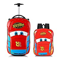 Car Kid's Travel Luggage suitcase Childred Trolley Case Cartoon Rolling Bag for School Kids Trolley Bag on wheels Boarding Box