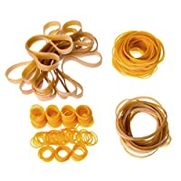 330 Pieces Assorted Sizes Rubber Bands, 28 by 1.5 mm, 80 by 1.5 mm, 100 by 5 mm and 160 by 10 mm