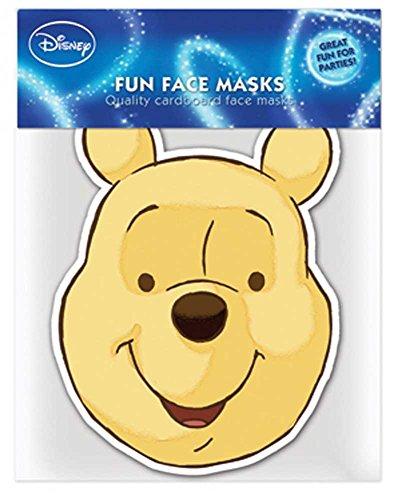 ie - Papp Maske, aus hochwertigem Glanzkarton mit Augenlöchern, Gummiband - Grösse ca. 30x20 cm (Winnie Pooh Kostüme)