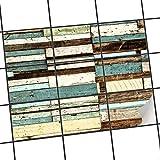 creatisto Fliesen verschönern | Motiv-Sticker Aufkleber Folie Badfliesen Küchen-Folie Küchengestaltung | 25x20 cm Design Motiv Schiffsbruch - 9 Stück