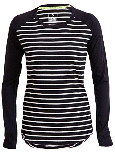 Mons Royale -  Maglia termiche  - Donna stripes/black