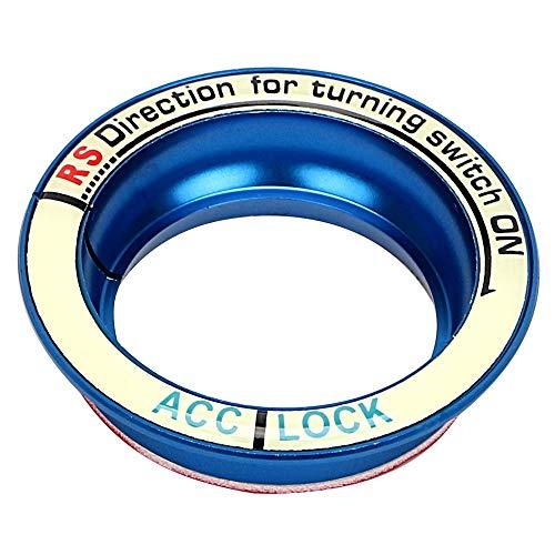 Odster - Luminous d'allumage de Voiture Keyhole Bague Couverture pour Ford Focus 2 3 4 Kuga Voiture de Coiffure Autocollants de Voiture et Décos Accessoires Auto [Bleu ]