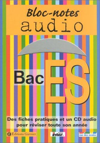 Bloc-notes : Bac ES (1 livre + 1 CD audio)