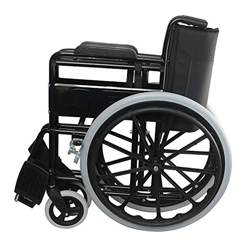 Foldable Commode Wheelchair with Cushion seat