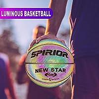 Baloncesto Reflectante Que Brilla intensamente Iluminado Baloncesto Luminoso Noche Baloncesto Colorido Bola de Entrenamiento Escolar para niños Adolescente