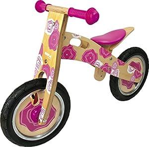 Vicky Tiel Ulysse 22023 - Bicicleta de Madera sin Ruedas para Aprendizaje, Color Rosa