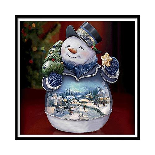 ting Cross Stitch Weihnachten Schneemann DIY Dekoration für Zuhause ()