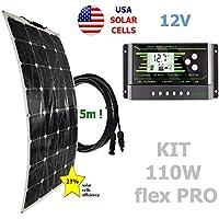 Kit 110W flex PRO 12V panel solar semi-flexible