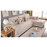 L&Zr Z & HX - Sofa Set Ecksofa Set 3 Sitzer & 2 Sitzer Suite, Hanf, Verschleißfest, Anti Verschmutzt/Import,Elk,210*90Cm