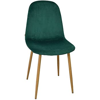Zons Stockholm Chaise Velours Scandinave 45 55 85cm Vert Amazon