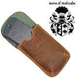 FREIHERR VON MALTZAHN iPhone-Tasche, Smartphonehülle, Gürteltasche REIS aus braunem Leder