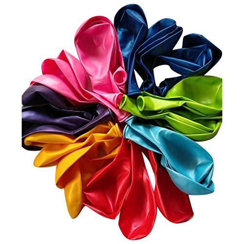 (Pondkoo Party Balloons 12 Zoll Regenbogen-Set (100er Pack), Verschiedene farbige Luftballons aus massivem Latex Helium, Luftgebrauch, Ballonbogen-Geburtstagszubehör, Dekorationszubehör)
