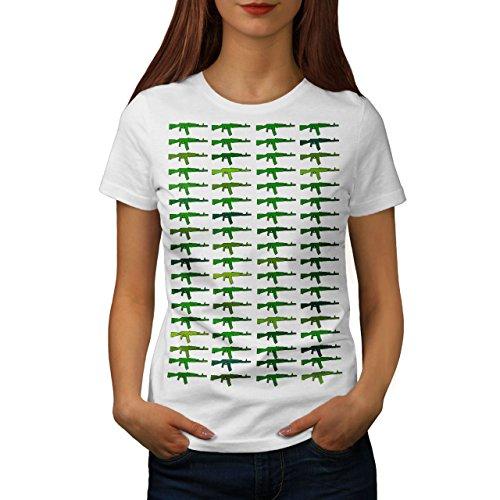 Wellcoda Gewehr Heftig AK47 Gangster Militär Frau S T-shirt (Militär-grafische T-stücke)