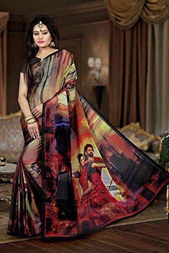 Shushila Sarees Bahubali 2 Movie saree in Bhagalpuri Khadi  available at amazon for Rs.499