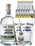 Gin-Set The Duke München Dry BIO Gin 0,7 Liter + Nordes Atlantic Gin 0,05 Liter Miniatur + 6 Thomas Henry Tonic Water 0,2 Liter + 2 x The Duke Long Drink Glas 0,3 Liter