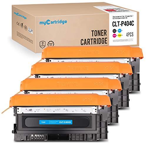 MyCartridge Toner Kompatibel zu CLT-P404C für Samsung Xpress c480fw c480w C480 C480FN C430 C430W(Schwarz/Cyan/Magenta/Gelb) -