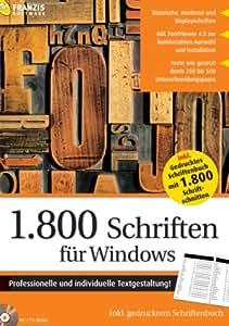 1.800 Schriften für Windows