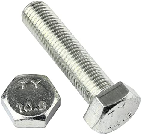 2 Stk DIN 961 Sechskantschraube M20x1,5x45 Feingewinde ann/ähernd bis Kopf Stahl