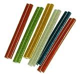 12 tlg. DKB Heißklebesticks bunt 8 x 100 mm Heißklebestäbe Glitzer farbig
