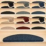 Kettelservice-Metzker Stufenmatten Treppenmatten Ramon Halbrund - 5 aktuelle Farben - 15 Stk. Blau