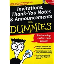 Invitations, Thank-you Notes, and Announcements for Dummies