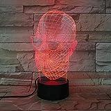 Neuheit Glas Schädel 3D Led Licht Schreibtisch Tischlampe Halloween Dekoration Geschenk Kind Urlaub Usb 7 Farben Ändern Lava Lampe Jungen Geschenk