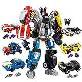 AOTE-D Auto Spielzeug Montage Fit 6 Stück Set Auto Polizei Auto Racing Spielzeug Junge Mädchen Geschenk Kind DIY Split Anzug
