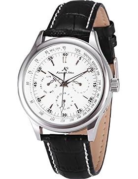 KS Automatik Uhr Herrenuhr Leder Armbanduhr