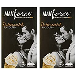 Manforce ButterScotch 3-In-1 Condoms 3 pieces Variety Packs (5)