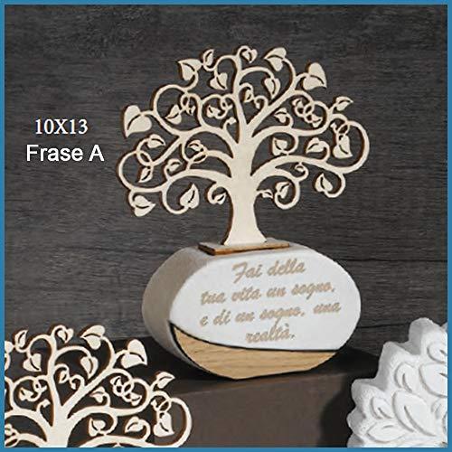 Bomboniere profumatore albero della vita matrimonio battesimo comunione cresima frase a - scatola + bigliettini da bomboniere + essenza inclusi
