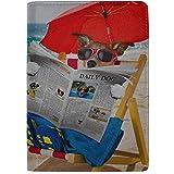 Lectura de Perros Periódico o Revista Bloqueo Imprimir Pasaporte Estuche Funda Estuche Equipaje de Viaje Pasaporte Billetera Portatarjetas