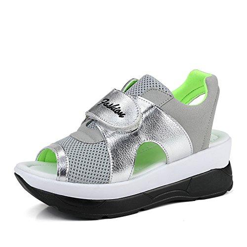 Zormey 2017 Mode Sommer Damen Schuhe Casual Sport Mesh Atmungsaktiven Schuhe Frau Komfortable Keile Sandalen Spitze Plattform Sandalias 8