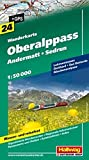 Oberalppass-Andermatt-Sedrun Wanderkarte Nr. 24, 1:50 000: Lukmanierpass, Gotthard, Göscheneralpsee (Hallwag Wanderkarten)