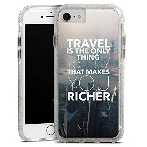 Apple iPhone 6s Bumper Hülle Bumper Case Glitzer Hülle Sayings Phrases Sprüche Bumper Case Glitzer gold