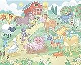 Walltastic WT4060 Baby-Fun on the Farm Fototapete 12 Teilstücke, 1.22 m x 0.5 m