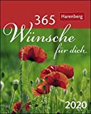 366 Wünsche für dich Mini-Geschenkkalender. Tischkalender 2020. Tageskalendarium Spiralbindung. Format 8 x 10 cm - Ulrike Beckmann