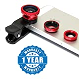 Rhobos 3-in-1 Clip-On Cell Phone Camera Lens Kit For IPhone And Android