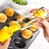 Glas Ölflasche Sauce Behälter mit hitzebeständige Silikon Ölpinsel Ölbürste perfekt für Kochen BBQ Bäcker Pancake Brot Fleisch Backen
