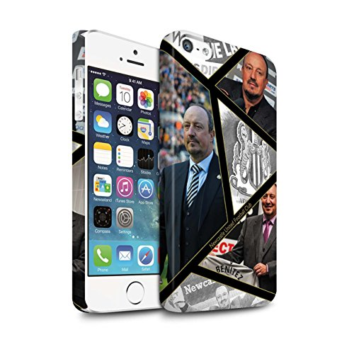 Officiel Newcastle United FC Coque / Clipser Matte Etui pour Apple iPhone SE / Pack 8pcs Design / NUFC Rafa Benítez Collection Montage