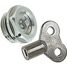 Purgador para radiador Boutt 1856236 C5+CLE4 05 x 10, llave de cuadradillo de 4 mm, niquelado