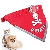 Halstuch Hund , Legendog Einstellbare Pirat Katze Hund Bandana Halsband Skull Muster Hund Schal Kragen Haustier Bandana für Hunde Welpen Katzen L