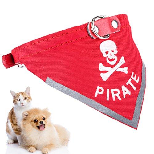 Halstuch Hund , Legendog Einstellbare Pirat Katze Hund Bandana Halsband Skull Muster Hund Schal Kragen Haustier Bandana für Hunde Welpen Katzen XS
