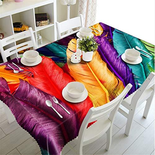 Shuangklei Weihnachtstischdecke-Tischdecken-Blumenmuster Druckte Staubdichte Tischdecken Für Hauptpartei-140X220Cm