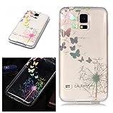 E-Mandala Samsung Galaxy S3 Hülle Ultra Dünn Slim Durchsichtig Silikon Schutzhülle Handy Tasche Etui Handyhülle Transparent mit Muster - Löwenzahn Pusteblume Schmetterlinge Blumen