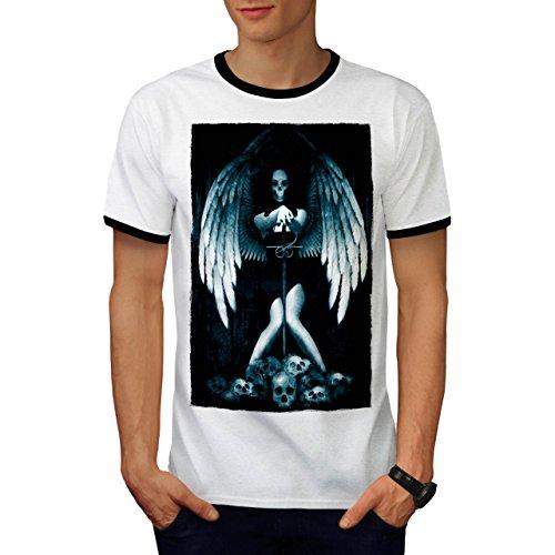 Engel Metall Tod Horror Schwert Mädchen Herren M Ringer T-shirt   (Krieger Tod Kostüme Kinder)
