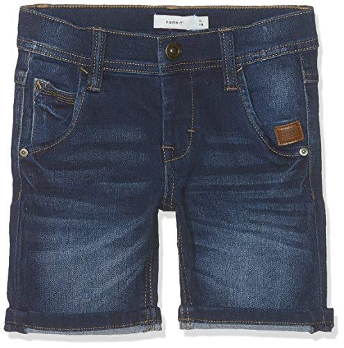 NAME IT Jungen NMMRYAN DNMBATAX 3171 Long Shorts, Blau Dark Blue Denim, (Herstellergröße: 116) Long Blue Denim